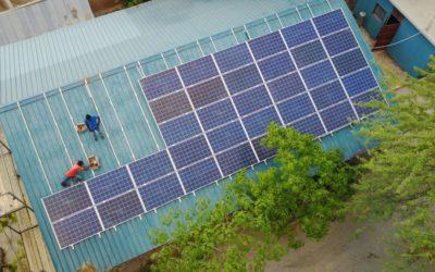 Die Solaranlage konnte installiert werden!